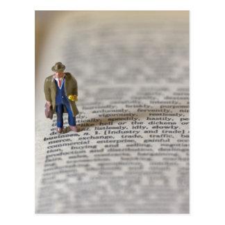 Tiny Businessman Postcard