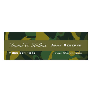 Tiny Camouflage Print Double-Sided Mini Business Cards (Pack Of 20)