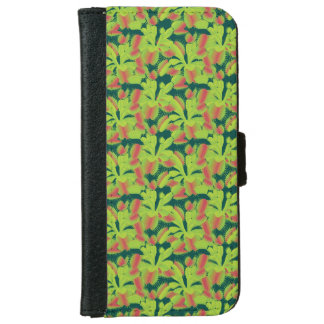 Tiny Carnivorous Venus Flytrap Floral Wallet Phone Case For iPhone 6/6s