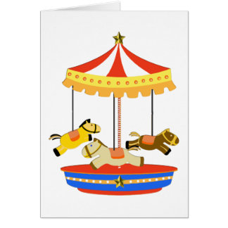 Tiny Carousel Greeting Card