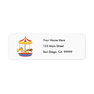 Tiny Carousel Return Address Label