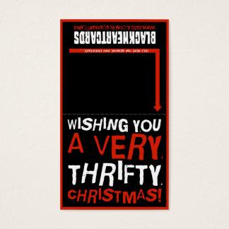 Tiny Christmas card - Thrifty Christmas