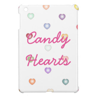 Tiny colorful candy hearts iPad cover
