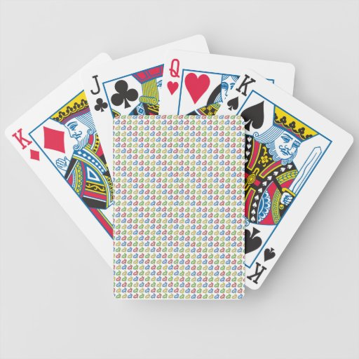 Tiny Colorful Rabbit shapes Bicycle Playing Cards