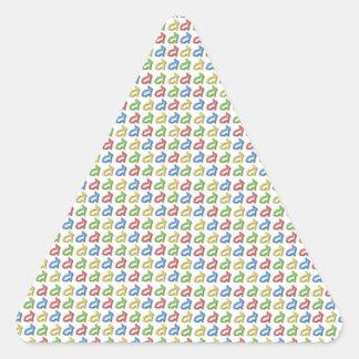 Tiny Colorful Rabbit shapes Triangle Sticker