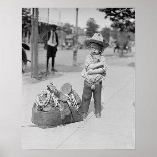 Tiny Cowboy, 1923. Vintage Photo Poster
