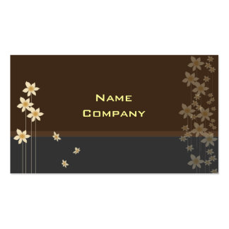 Tiny cream blossoms profile card Double-Sided standard business cards (Pack of 100)