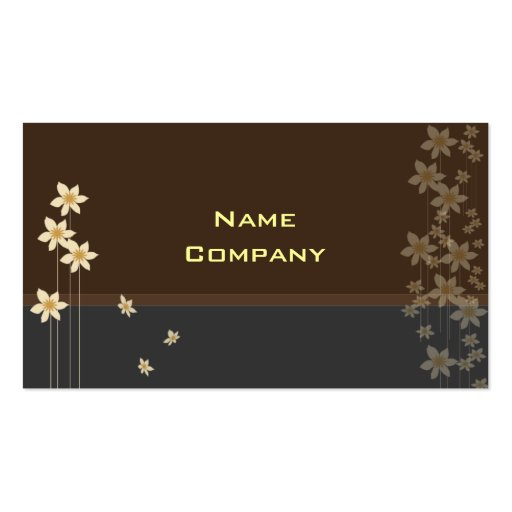 Tiny cream blossoms profile card business card
