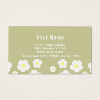 Tiny Cute Flowers C Business Card