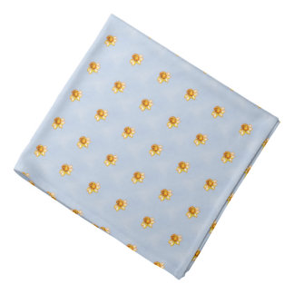 Tiny Daffodils Pixel Art Kerchief