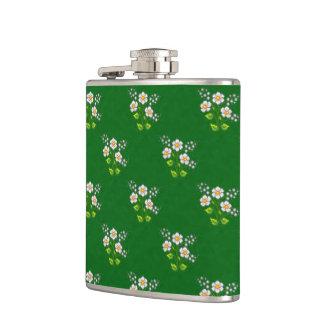 Tiny Daisies Pixel Art Hip Flask