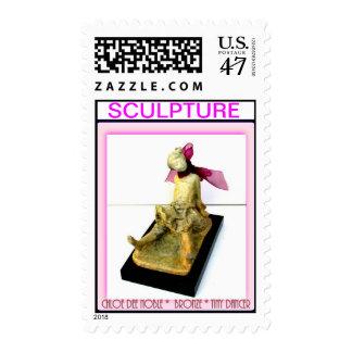 """""""Tiny Dancer"""" bronze sculpture Postage Stamp"""