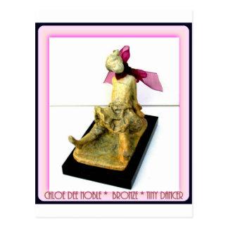 """Tiny Dancer: bronze sculpture Postcard"