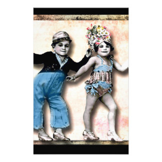 Tiny Dancers, vintage altered art Stationery
