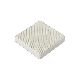 Tiny Diamond Shapes Golden Yellow White Pattern Stone Magnet