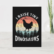 Tiny Dinosaurs Chicken Faming Funny Gift Card