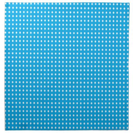Tiny Dots on Blue Cloth Napkins