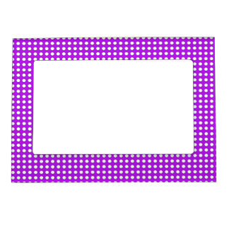 Tiny Dots on Purple Magnetic Frame