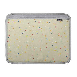 Tiny Dots Rainbow Confetti Sprinkle Print MacBook Air Sleeve