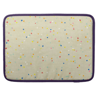 Tiny Dots Rainbow Confetti Sprinkle Print Sleeves For MacBook Pro