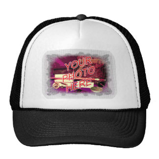 Tiny Dots White Frame Template Trucker Hat