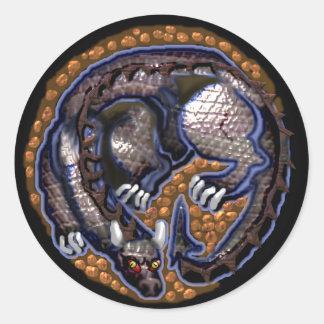 tiny dragon classic round sticker
