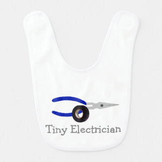 Tiny Electrician Baby Bib