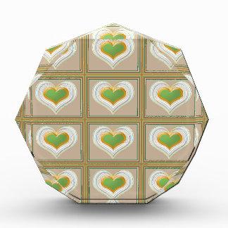 Tiny Emerald Green HEARTS : Gift n WIN a Heart
