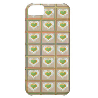 Tiny Emerald Green HEARTS : Gift n WIN a Heart Case For iPhone 5C