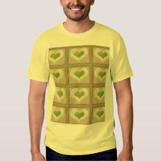 Tiny Emerald Green HEARTS : Gift n WIN a Heart T-shirt