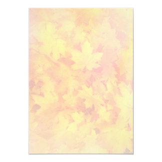 Tiny Fall Leaf Pattern Nature Fan Program Paper Card