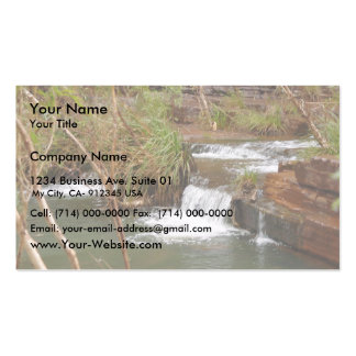 Tiny Falls Over A Stratum Below Fortescue Falls Double-Sided Standard Business Cards (Pack Of 100)