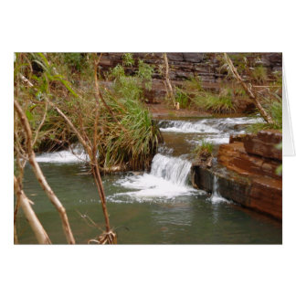 Tiny Falls Over A Stratum Below Fortescue Falls Greeting Card