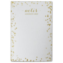 Tiny Faux Gold Confetti Personalized Notes