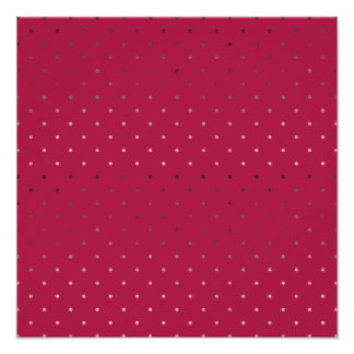 tiny faux rose gold foil pink polka dots pattern poster