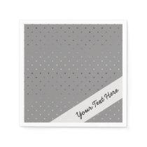 tiny faux rose gold grey polka dots pattern paper napkin