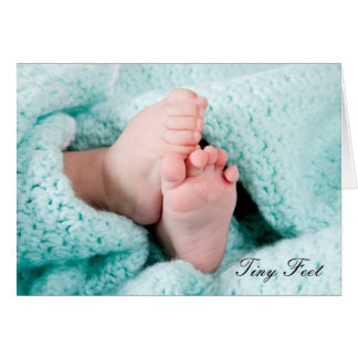 Tiny Feet - Birth in the family new baby greeting Card