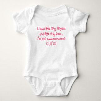 Tiny Fingers Baby Girl So Cute Baby Bodysuit
