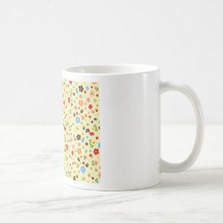 Tiny Flora Beigh Background Coffee Mug