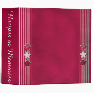 Tiny Flowers and Stripes Binder