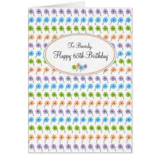 Tiny Flowers Happy 65th Birthday Card