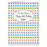 Tiny Flowers Happy 80th Birthday Greeting Card