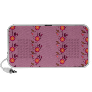 Tiny flowers on pink - pattern portable speaker