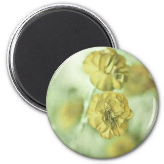 Tiny Flowers Yellow Magnet
