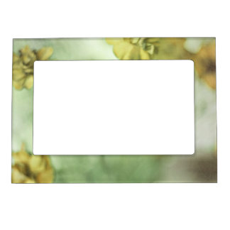 Tiny Flowers Yellow Magnetic Photo Frame