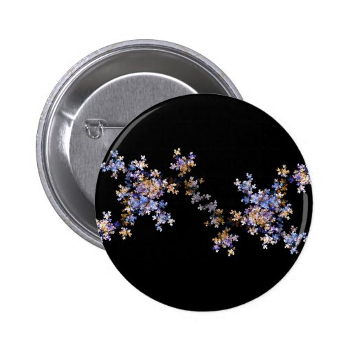 Tiny Fractal Art Flowers 2 Inch Round Button