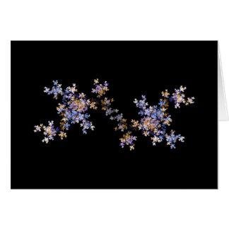 Tiny Fractal Art Flowers Card