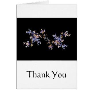 Tiny Fractal Art Flowers Greeting Card
