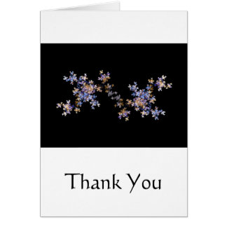 Tiny Fractal Art Flowers Greeting Card