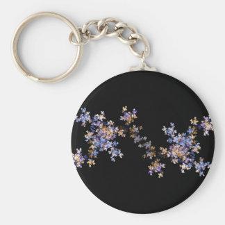 Tiny Fractal Art Flowers Keychain